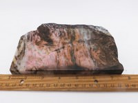 Large Rhodonite with Quartz Slab